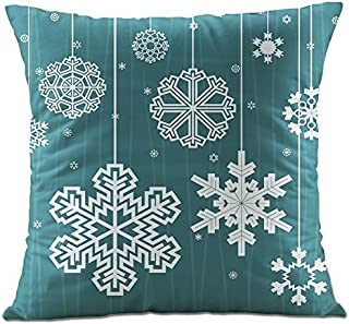 Huacel Christmas Pillows, Christmas Gift 2019 Happy New Year Merry Christmas Letters Linen Cushion Cover Fabric Pillow Case Cushion Decorative for Couch Sofa Pillowcase 18x18 Inch - Pattern 8