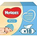 Huggies Pure 18 Packs de 56 Lingettes