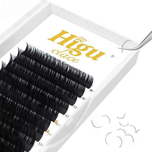 Higu Classic Eyelash Extensions 0.15mm CC Mix 8-15mm Tray Individual Eyelash Extensions Silk Classic Lashes Extension Premium Single Lash Extensions Professional Salon Use(0.15 CC Mix 8-15mm)