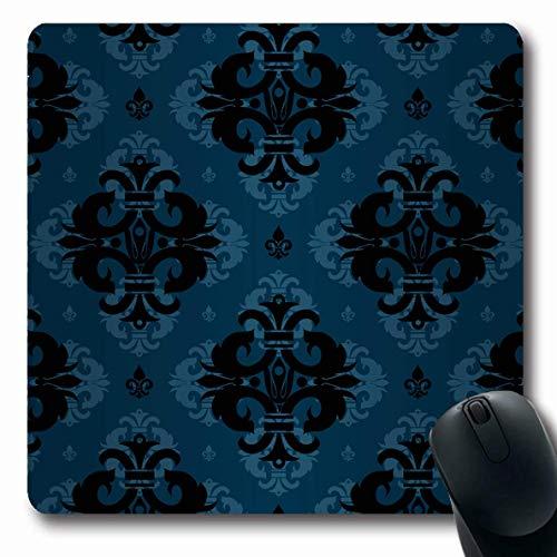 Mousepad Oblong Blue Abstrakte Pracht Regal Muster Natürliche nautische Vintage Rhomb Fliese Antike Barock Schöne De rutschfeste Gummi Mauspad Büro Computer Computer Laptop Spielmatte