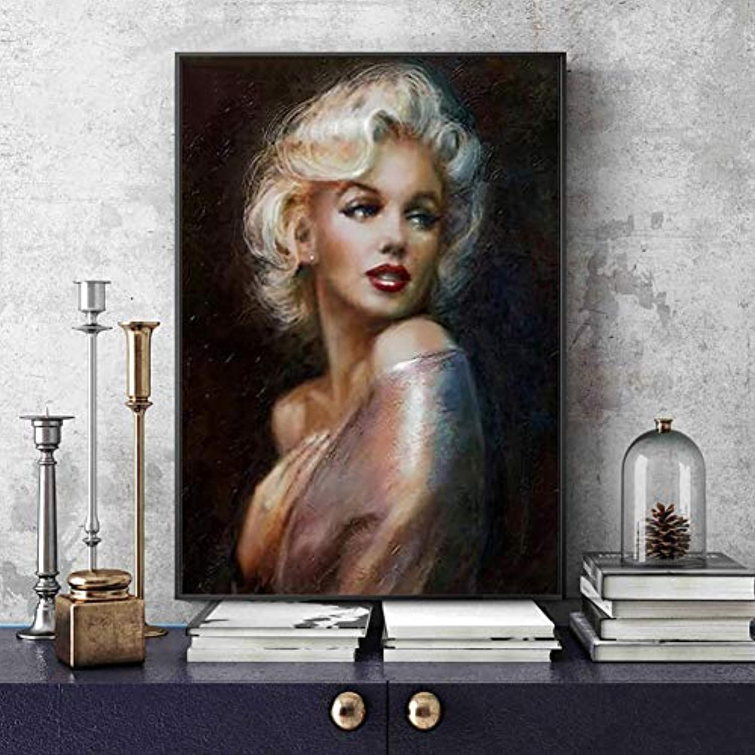 DIY 5D Diamond Painting, Full Drill Painting by Number Kit for Adult (Marilyn Monroe, 1624 inch)