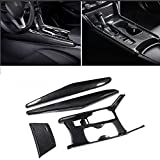 XITER 4PCS ABS Carbon Fiber Car Interior Water Cup Holder Console Gear Shift Panel Cover Trim For Honda accord 10th 2018 2019 2020 (Not Fit gas/electric hybrid)