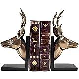 Sujetalibros Exquisito Sookends Book Fin Final Decor Animal Book Finaliza los soportes para el estante, el titular de la prensaestodía para el hogar de la oficina del hogar Regalos decorativos Estante