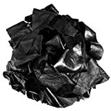 Leather Scraps for All Crafts 2 lb Soft Flexible Leather Strips of Black Different Size – Medium to Large Pieces
