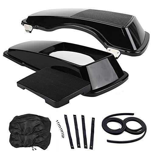 """6"""" x 9"""" Vivid Black Saddle Bag Lids Cover, Saddlebag Speaker Lid w/Grills fit for Harley Touring FLHR FLTR FLHX Road King Road Glide Street Glide Electra Glide Ultra-Classic 1996-2013"""