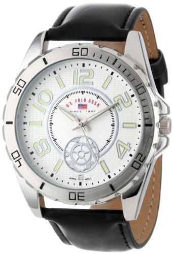 U.S. Polo Assn. Classic US5159 Reloj de Correa de Cuero sintético Negro para Hombre