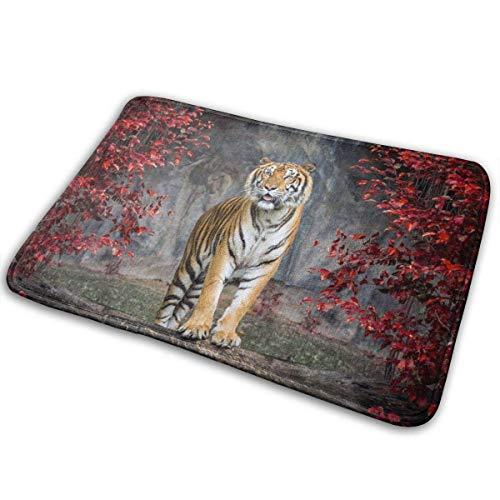 Odelia Palmer Forest Tiger Felpudo Decoración del hogar Alfombrillas Antideslizantes Alfombrilla para el Piso Alfombra