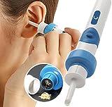 Electric cérumen retrait kit, électrique Ear Cleaner, avec 2New-designed Pointes de rechange et brosse