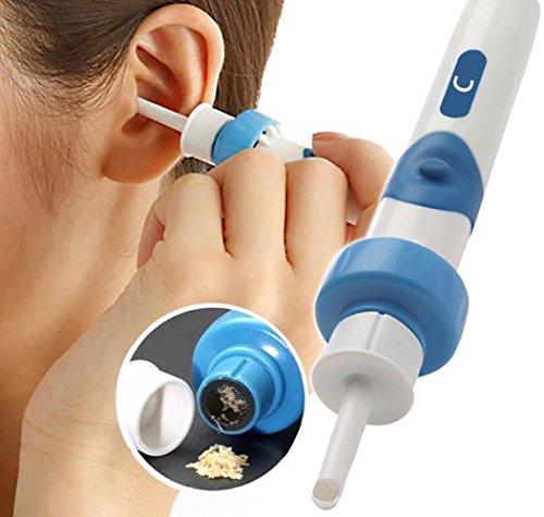 Kit de eliminación de cera de oído eléctrica, limpiador de orejas eléctrico, con 2 puntas de repuesto y cepillo