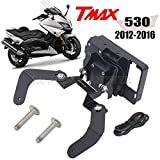 RONGLINGXING Parti Powersports GPS Windscren staffa Smartphone supporto for il YAMAHA TMAX 530 TMAX 530 2012-2016 (Color : A)