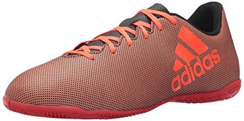 adidas Men's X 17.4 in Soccer Shoe, Black Red/Solar Orange, 8 M US