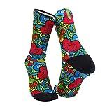 Monolon Calcetines técnicos divertidos y originales para ciclismo, running o cualquier deporte, modelo Eden (S)