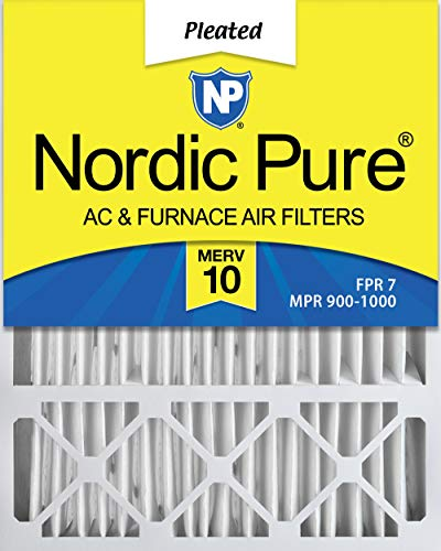 Nordic Pure 20x25x5 MERV 10 Pleated Lennox X6673_X6675 Replacement AC Furnace Air Filter 1 Pack