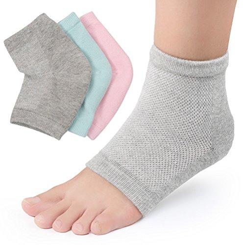 Frcolor 3 paar gel hiel sokken hielbescherming hielspoor bandage hiel hydraterende sokken