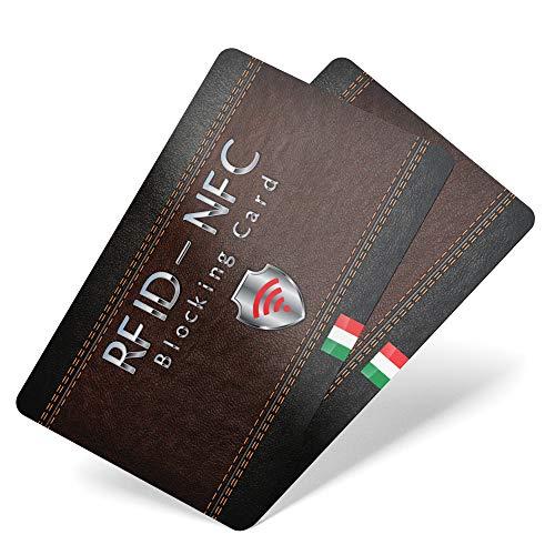 2 pezzi Protezione Anti RFID per Carte di Credito Contactless Blocco RFID & NFC - RFID Blocking Bancomat Documenti Identità   Sostituisce Le Custodie Di Blocco Per Porta Carte Idee Regalo Natale