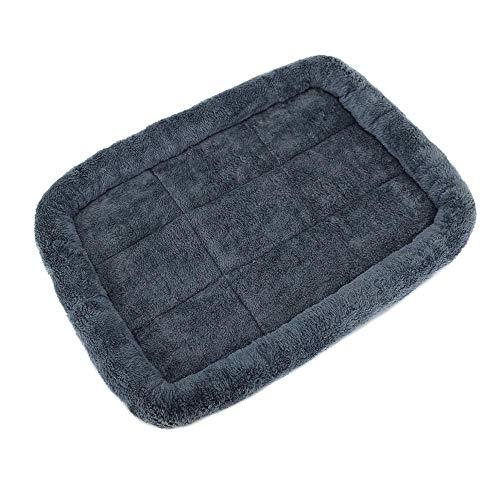 SUNXU Rectángulo Antideslizante de poliéster para Perros, Cama para Dormir, colchoneta Lavable, colchón para Mascotas, cojín para Gatos y Cachorros, sofá-XXL 105x70cm