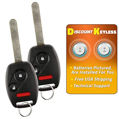 For 07-15 Honda Accord Crosstour CR-V CR-Z Fit Insight Keyless Entry Remote Key Fob Alarm MLBHLIK-1T, 2500A-HLIK-1T 2 PACK - See Listing For Vehicle Compatibility