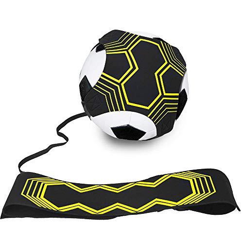 A Fußball-Training, Kick-Trainer, Fußball, Trainingshilfe für Kinder und Erwachsene, freihändiges Trainieren mit Gürtel, elastisches Seil, universell passend für 3/4 / 5 Fußbälle, 1 Stück.
