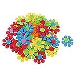 Generic Lot de 50pcs Fleur Mixte Mousse Enfants Décoration Artisanat Bricolage Diy