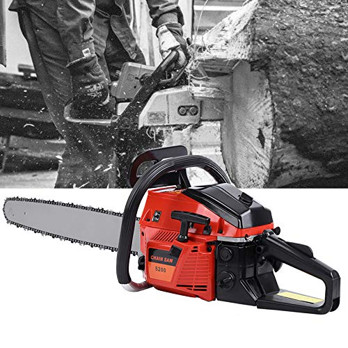 Review Ridgeyard 22 52CC Professional 2-Stroke Petrol Chainsaw Wood Cutting Gasoline Chainsaw with ...