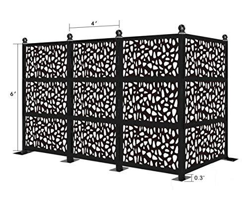 Best Deals! eco Panel Laser Cut Decorative Steel Privacy Panel/Metal Fencing/Freestanding Modular Me...