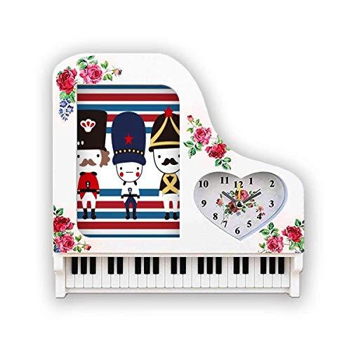 Beauty Gift Colorful Soldat UK Wahrzeichen Flagge Fotorahmen Wecker Klavier Desktop
