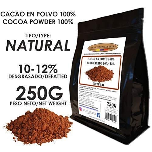 Cacao Venezuela Delta - Cacao en Polvo Puro 100{37cf1bb9c8cccc293d16e51c538346f33ce8cd2c414500442da5081cf39c4864} · NATURAL · Desgrasado 10-12{37cf1bb9c8cccc293d16e51c538346f33ce8cd2c414500442da5081cf39c4864} · 250g