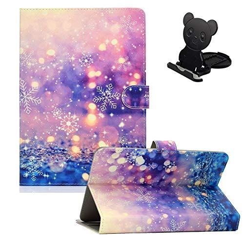 Ostop Funda universal para tablet de 10 pulgadas para Huawei MediaPad T5/T3, Lenovo Tab M10, Samsung Galaxy Tab A T510N, con ranura para tarjetas, color arena brillante