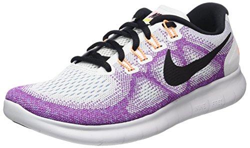 Nike Free RN 2017, Scarpe Running Donna, Multicolore (off White/Black-Hot Punch-Chlorine Blue), 37.5 EU