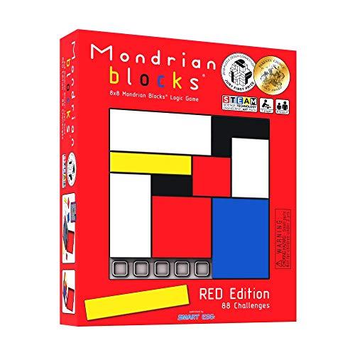 Mondrian Blocks è il Gioco pluripremiato: Il Puzzle rompicapo da Viaggio, Edizione Rossa