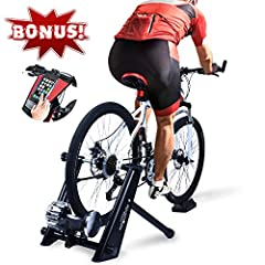 🚴[STATIONARY & DURABLE]: This fluid bike trainer has widened the frame and base, which can support up to 370 lbs, wider base ensure safety and stability for you. So, the training stand won't wobble when pedaling. 🚴[WIDER COMPATIBLE BIKE]: Fit most ro...