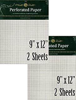 Mill Hill 14 Count Perforated Paper 2 Pack Bundle, 9 by 12-Inch, White, 2 Per Package