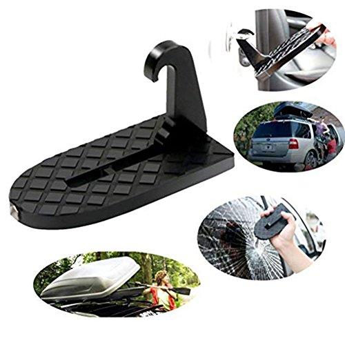 Tancurry – Accessoire multifonctions pour SUV et Jeep – Marchepieds et entrebailleur de porte de voiture, marteau de sécurité – Accès facilité aux barres de toit