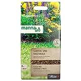 Hauert Manna Bio Chaux de Jardinage, Chaux pour Gazon 8 kg avec Algues