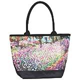 VON LILIENFELD® Borsa Shopping Donna Spazioso Tracolla Saccoccia Arte Fiore Claude Monet: Il giardino
