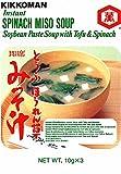 Soupe miso au tofu & épinard instantanée KIKKOMAN 30g Japon