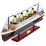 HIUHIU 3D de Madera ensamblada en velero Modelo Titanic Adornos Modelo de la Buque de la Buque de la simulación de la Buque de cruceros, los Adornos del Modelo (se Pueden iluminar)
