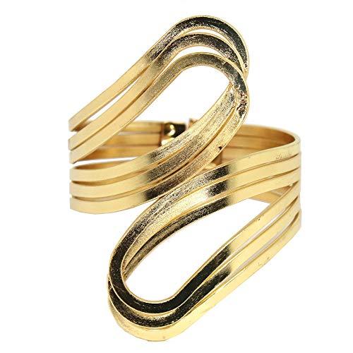 Handgefertigter Armreif in gold Armspange Oberarmreif Spange Bangle Vintage Armband (gold)