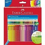 Faber-Castell 112449 - Estuche de cartón con 48 ecolápices Grip de colores,...