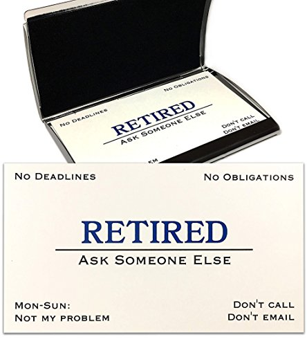 Out of Business Cards with Stainless Steel Case - Funny Retirement Gift...
