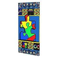 Autism World アートデリ ポスター パネル 絵キャンバスの壁アート 木製の枠 アートワーク 壁飾り 壁ポスター おしゃれ 25*50cm 玄関やリビング お祝いや贈り物に 雰囲気 癒し