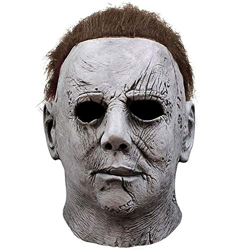 Scary Halloween Face Mask Michael Myers Latex Full Face Mask Horror Masks for Men Adult Kids Cosplay Costume Halloween…
