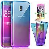ZHXMALL Coque Samsung Galaxy J7 2017 (J730, 360 Degrés Cover [Avant et Arrière Intégral Full...