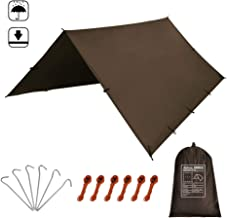 Kalinco PU Waterproof Camping Tarp Tent RAIN Fly Picnic Mat Survival Shelter Sunshade Lightweight Mutifunctional Rain Cover Gear Accessories