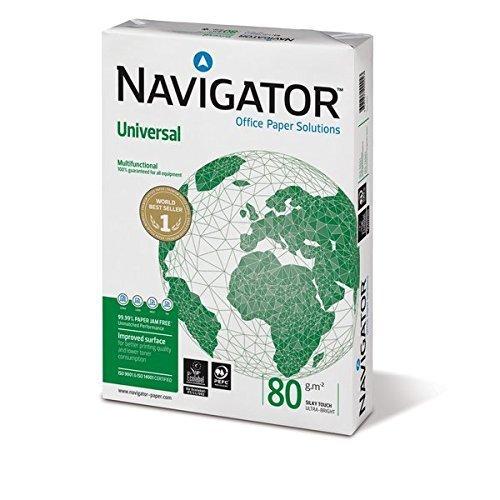 10er Pack Universal-Navigator A4 weiß 80 g/m² (10 x 500 Blatt - Inh 5000 Blatt)