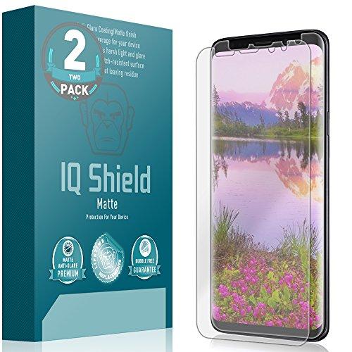 IQ Shield Matte Screen Protector Compatible with Samsung Galaxy S9 Plus (Edge to Edge)(Max Coverage)(2-Pack) Anti-Glare Anti-Bubble Film