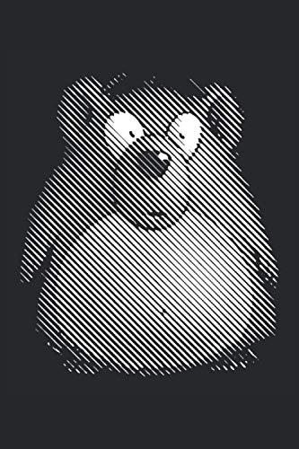 Ours noir et blanc - cahier: Format: A5 (6 x 9 pouces) • 110 pages • Grille de points • Avec numéros de page • Agenda • Cahier • Cahier d'exercices • Original FD-DESIGN