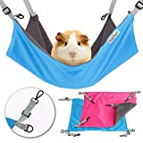 HOMEYA Small Animal Guinea-Pig Hanging Hammocks Bed Pet Cage Hammock for Ferret Cat Rat Chinchilla Hamster Cavy Degu Gerbil Rabbit Playing Cozy Activity Fun Toy (Ferret Size)