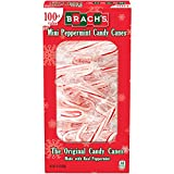 Brachs Mini Peppermint Individually wrapped Candy Canes 100 Count