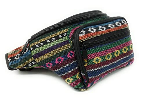 Riñonera Hippie Rasta Chico/Chica Nuevos Modelos, Amplias, Cremalleras. (Three Rainbow)